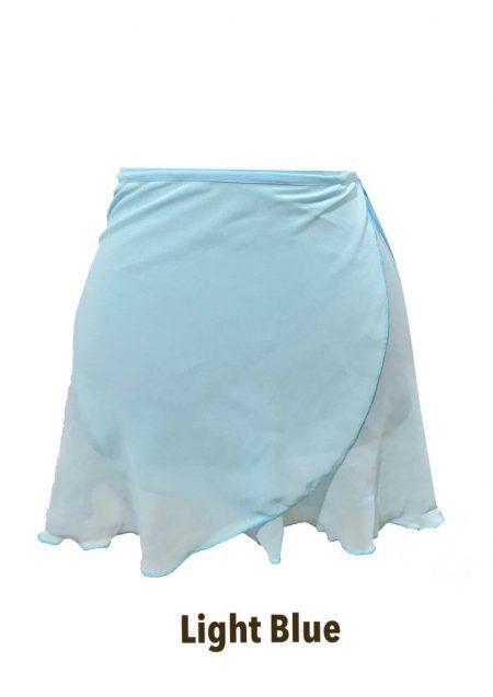 light blue classic wrap skirt