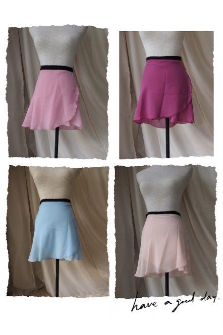 Long back wrap skirt