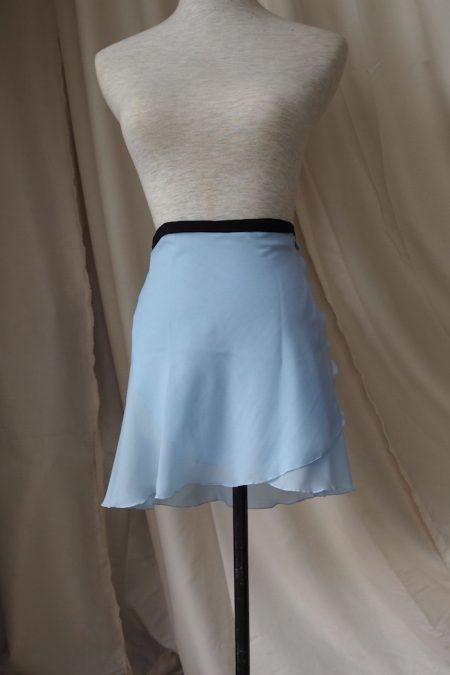 Baby blue Long Back Wrap Skirt