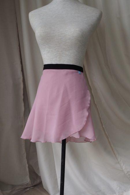 Ballet pink Long Back Wrap Skirt