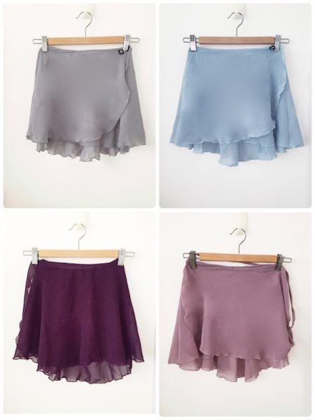 Classic flare wrap skirts