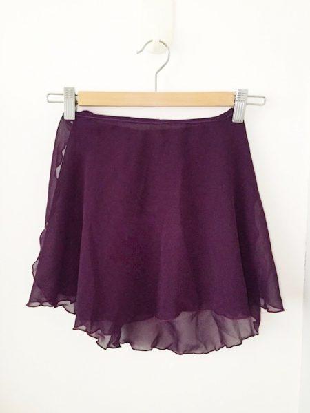 eggplant classic flare wrap skirt