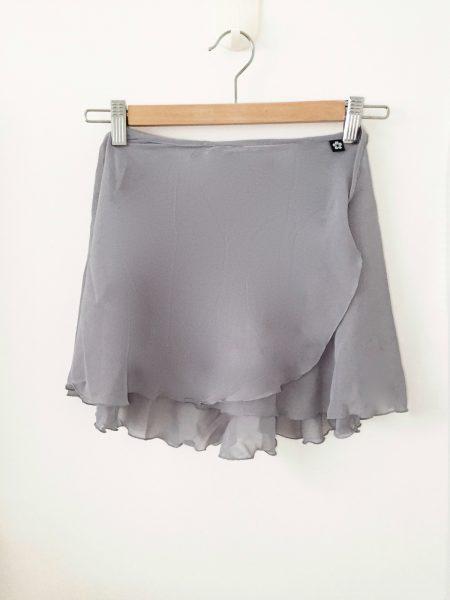grey classic flare wrap skirt