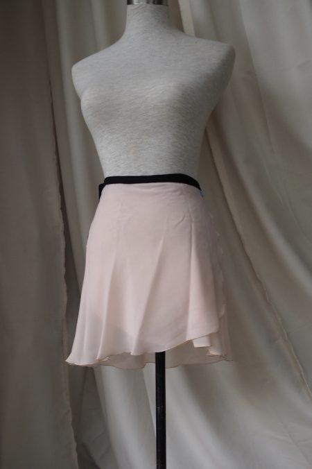 Light Peach Long Back Wrap Skirt