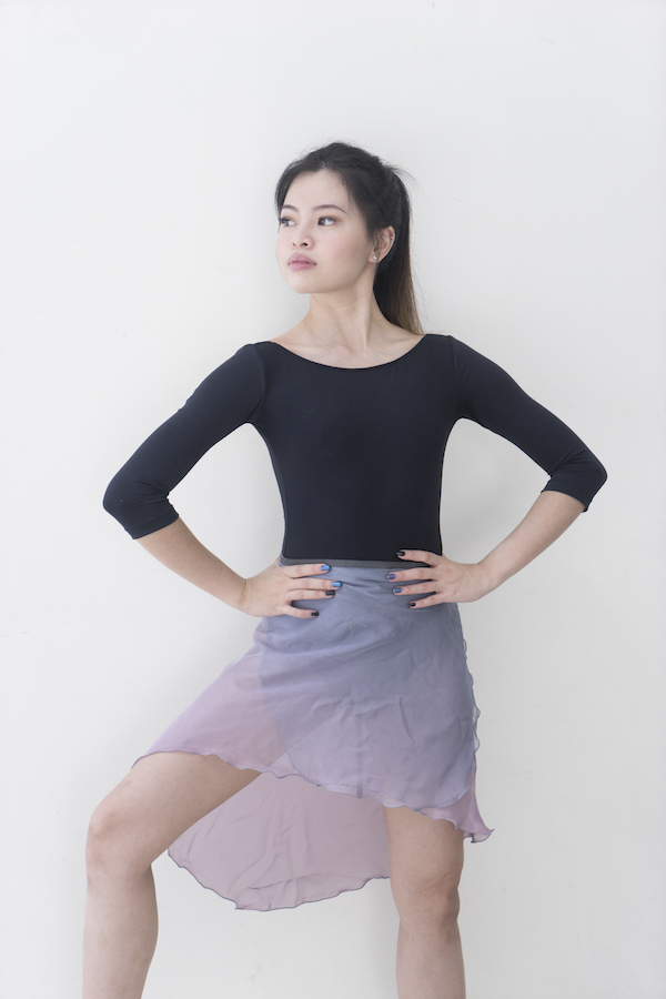 sadie-leo-dancewear ombre train skirt