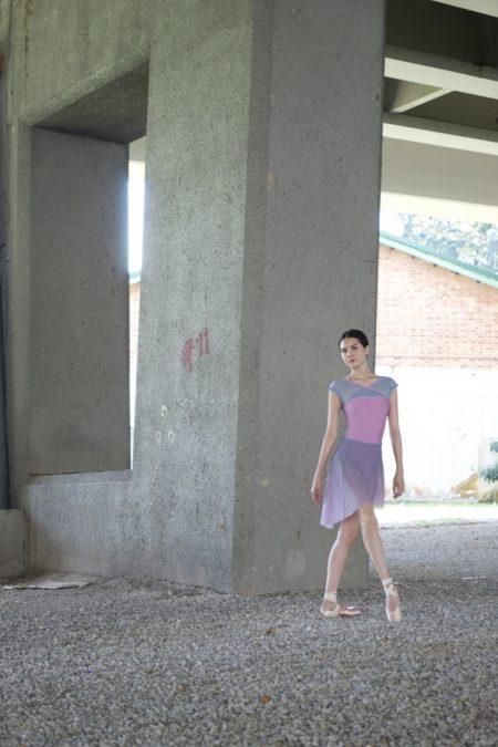 1 ombre lliac pull on mesh ballet skirt