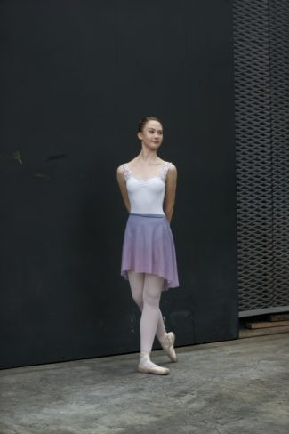 1. ombre lilac mesh skirt