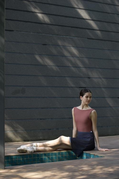 2 ombre grey mesh skirt ballet pull on skirt