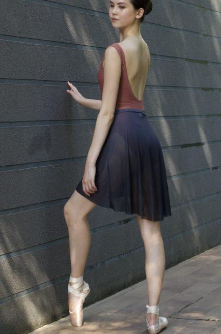2. ombre grey mesh skirt