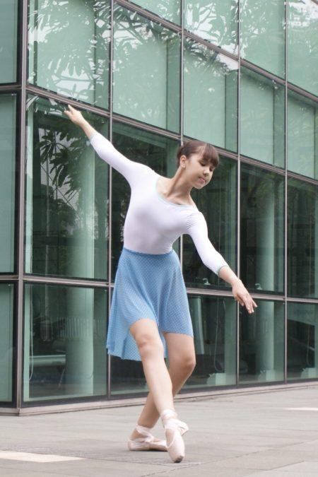 olympic-blue-dotti-mesh-skirt