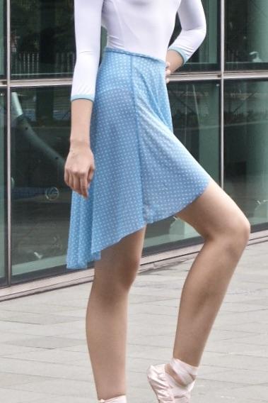Dotti olympic-blue-mesh-pull-on-skirt