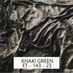 Khaki Green Velvet