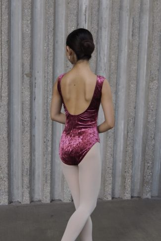rose velvet audrey leotard